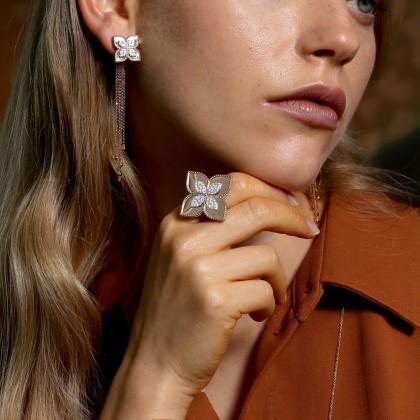Princess Flower | Brincos com Diamantes