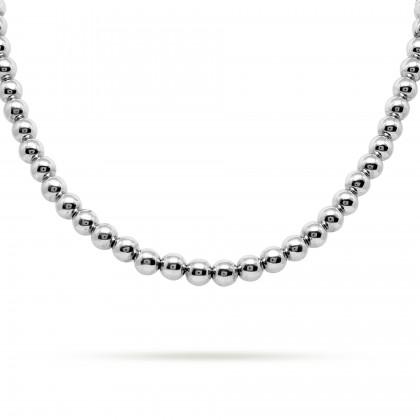 Round bead necklace