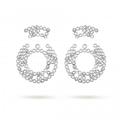 Tube earrings (2 in 1)