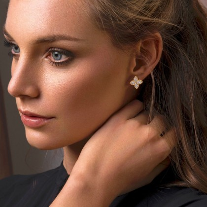 Princess Flower | Diamond Earrings