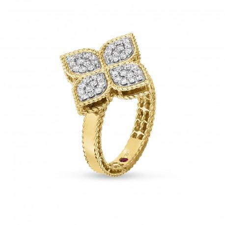 Princess Flower | Anel com Diamantes