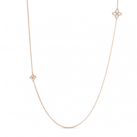 Princess Flower | Mother of Pearl and Diamond Necklace