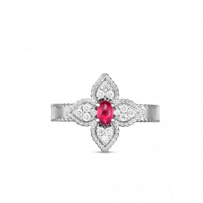 Princess Flower | Rubi and Diamond Ring