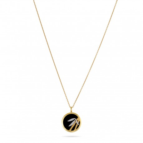 Bamboo | Diamond and Onyx Necklace