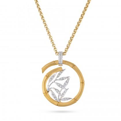 Bamboo   Colar com Diamantes