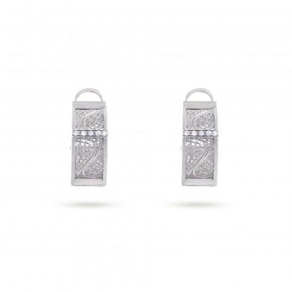 DECO FILIGREE   Diamond Earrings
