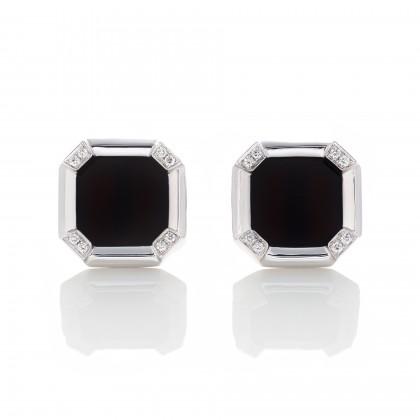 Diamond and Onyx Cufflinks