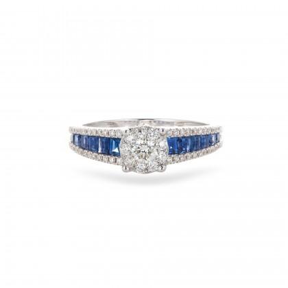 Diamond and Saphyre Ring
