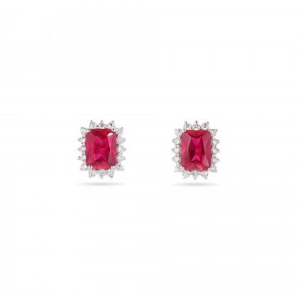 Brincos Diamantes e Rubis