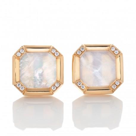 Botões de Punho com Diamantes