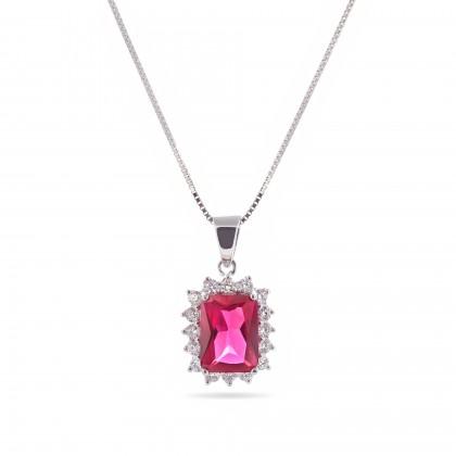 Colar com Diamantes e Rubi