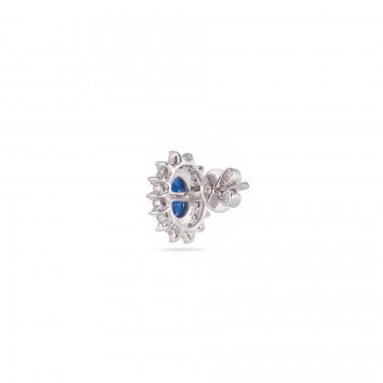 Diamond and Safira Earrings